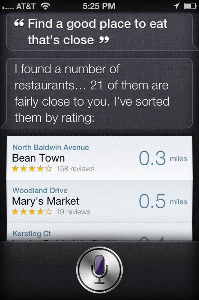 Siri-nearest-restaurant